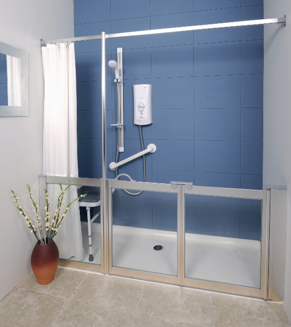 Level Access Eagle Shower Tray Option F1 Door