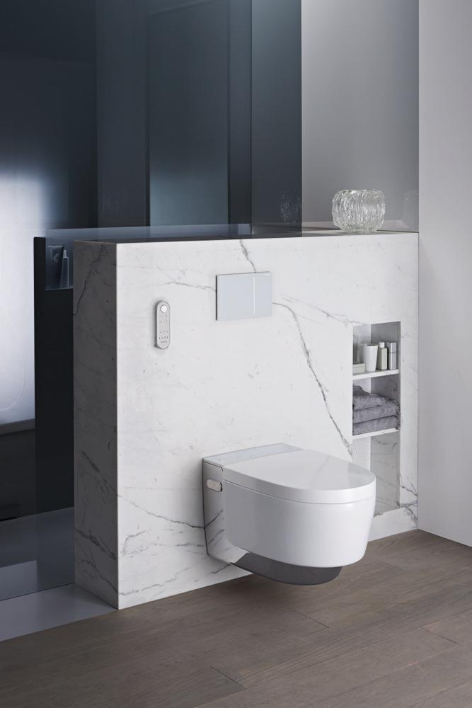 En slim en schoon toilet. Aquaclean toilet van Geberit #geberit #toilet #aquaclean