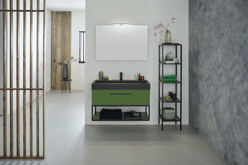 Sanidrôme badkamerinspiratie: geef je badkamer kleur #badkamer #badkamerinspiratie #sanidrome #kleur #colourexplotion #groen