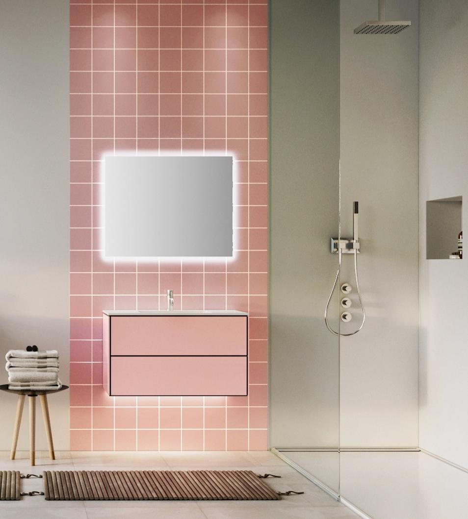 Sanidrôme badkamerinspiratie: geef je badkamer kleur #badkamer #badkamerinspiratie #sanidrome #kleur #colourexplotion #roze