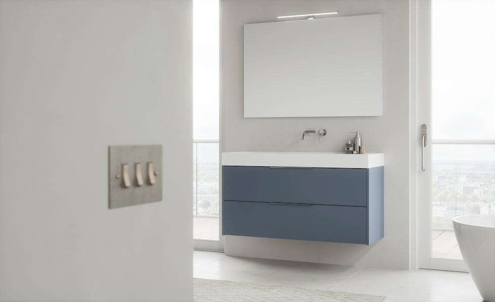 Sanidrôme badkamerinspiratie: geef je badkamer kleur #badkamer #badkamerinspiratie #sanidrome #kleur #colourexplotion #blauw