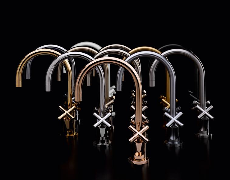 Design kraan in de badkamer - Kraan Tara van Dornbracht via Sanidrome #designweken #acties #badkamer #design #kraan