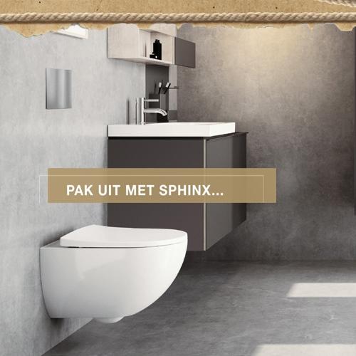 Eindejaarsweken Sanidrome cashback actie Sphinx toilet #badkamer #sanidrome