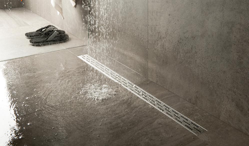 Douchegoot Easy Drain biedt de zekerheid van een waterdichte douchevloer en is eenvoudig te reinigen