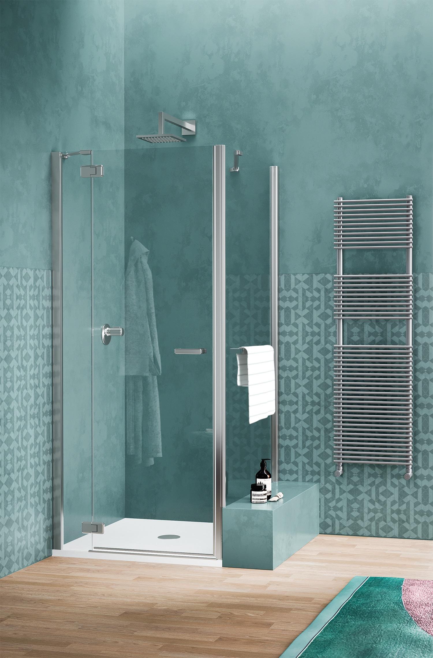 Sealskin douchewand gallery 3000 met handdoekrek #douchewand #douche #sealskin #badkamers
