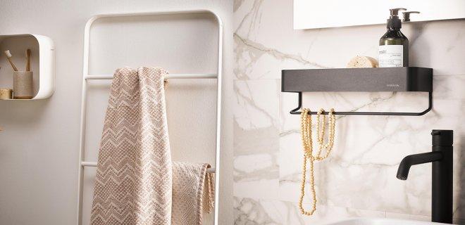 Alles voor de badkamer. Functionele en stijlvole accessoires #badkamer #badkameridee #sealskin