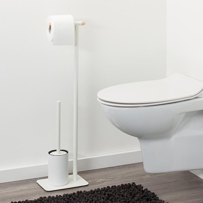 Badkameraccessoires. Sealskin Brix vrijstaande toiletrolhouder #toilet #badkamer #badkameraccessoires #sealskin #brix #badkamerinspiratie