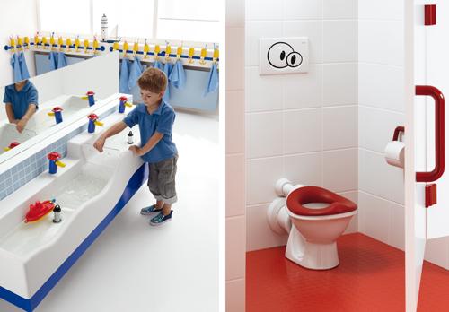 Sphinx 300 kids dubbele wastafel en toilet voor kinderen