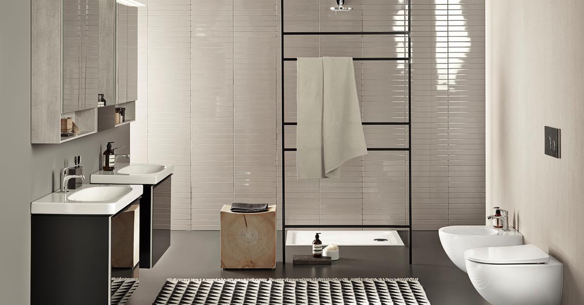 Richt je badkamer perfect in met de veelzijdige badkamerserie Acanto van Sphinx #opruimen #badkamer #badkamermeubel #badkamerinspiratie #acanto #sphinx