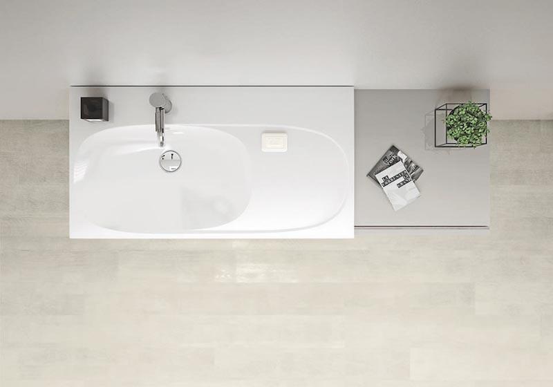 Wastafel Sphinx Acanto. Nieuwe serie badkamermeubelen, keramiek en toiletten van Sphinx. Flexibel te combineren tot droombadkamer #Acanto #Sphinx #badkamer #meubelen