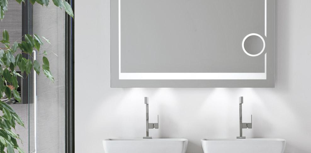 Vanita & Casa badkamerspiegel met led-verlichting en make-up spiegel