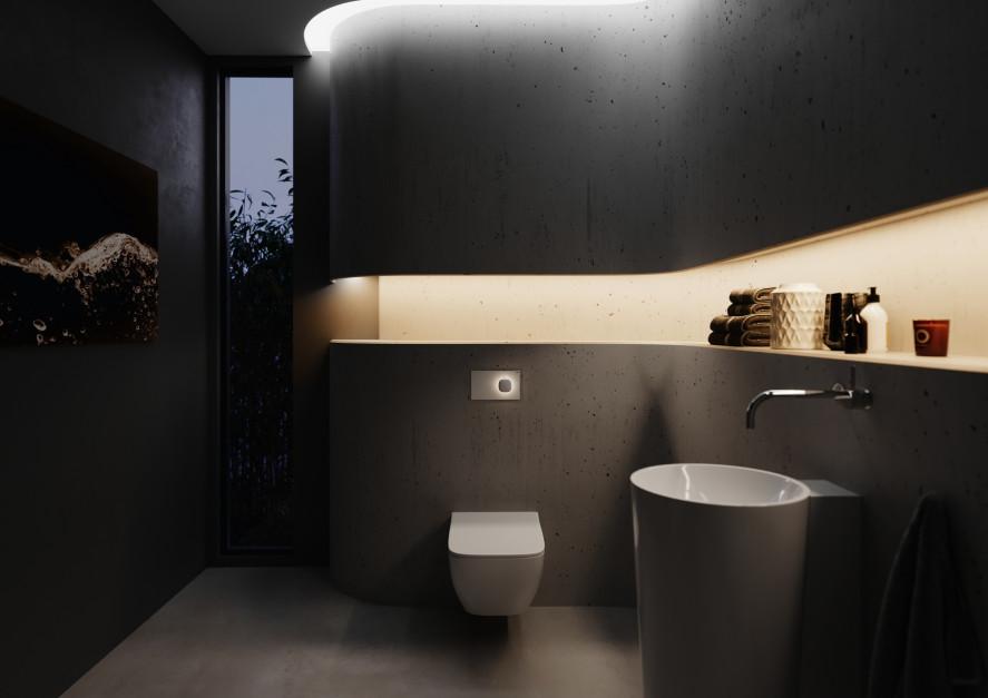 Bedeiningsplaat toilet Viega Visign for More 202 met licht #design #bedieningsplaat #viega