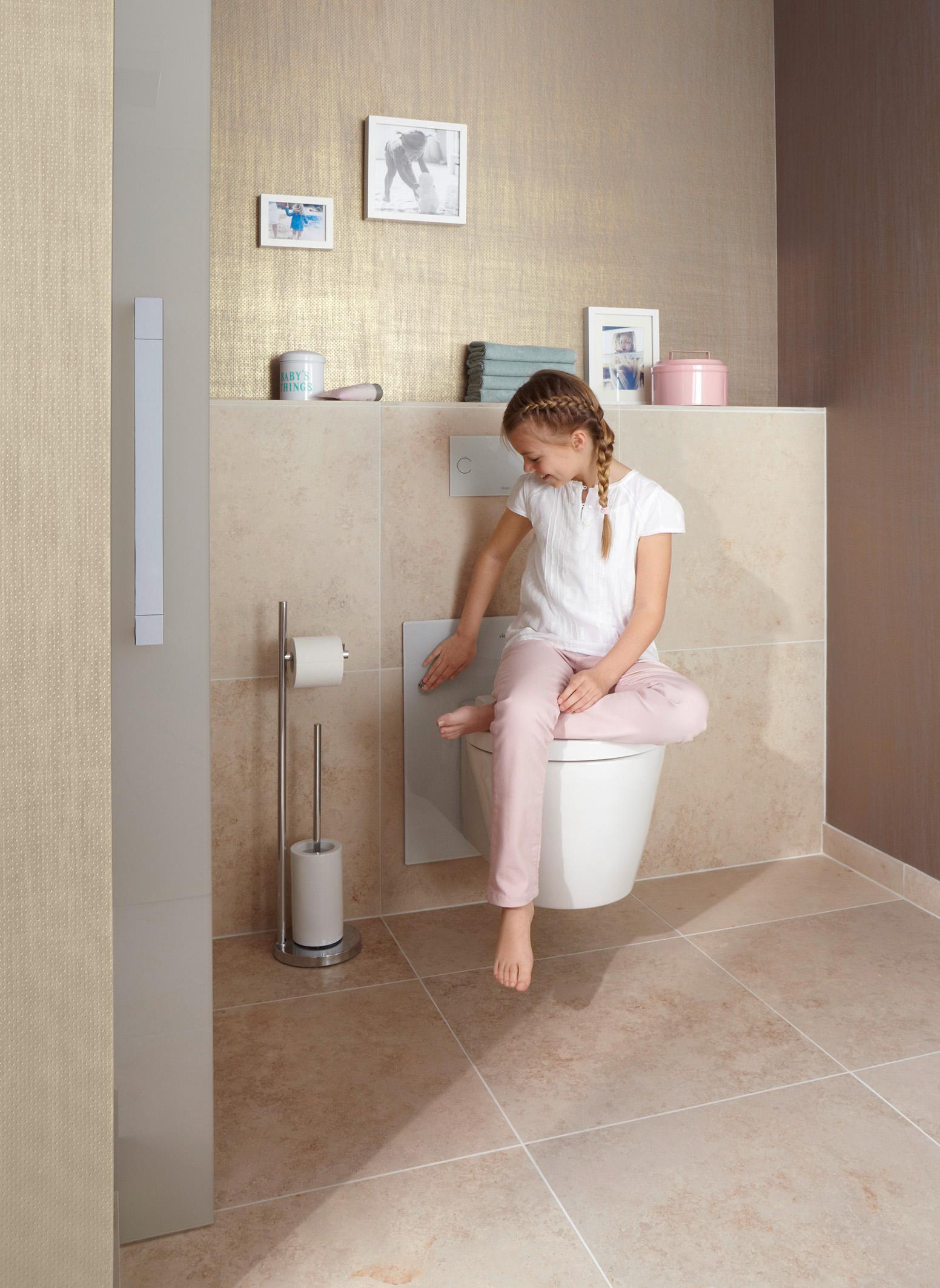 Viega in hoogte verstelbare toilet voor jong en oud