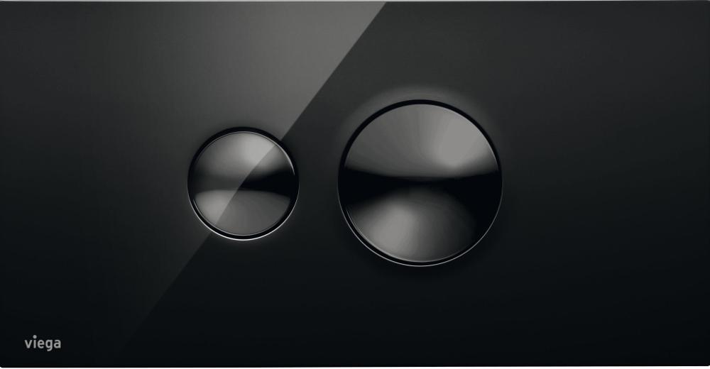 Design bedieningsplaat voor de wc Viega Visign for Style in de stijlvolle kleur zwart