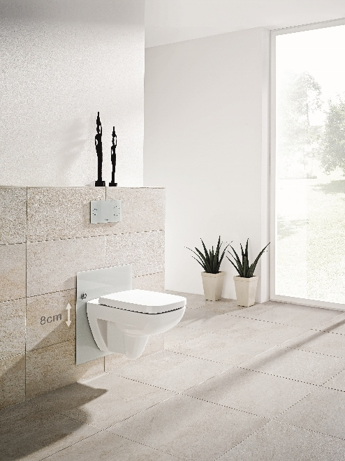 Verstel de wc in hoogte met Viega Eco Plus element