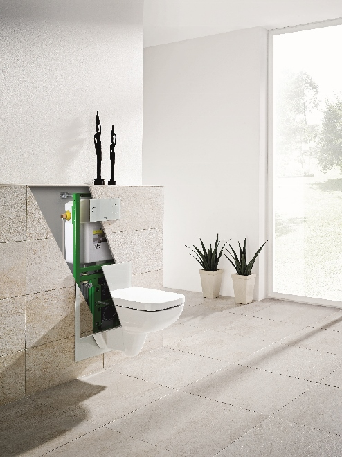 Viega eco plus element wc in hoogte verstelbaar