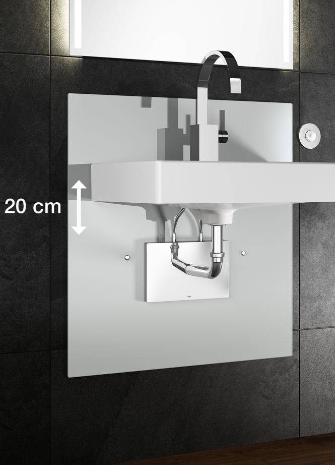 Deze wastafel is in hoogte verstelbaar met één druk op de knop. Ideaal voor de levensloopbestendige badkamer - Viega Eco plus wastafelelement
