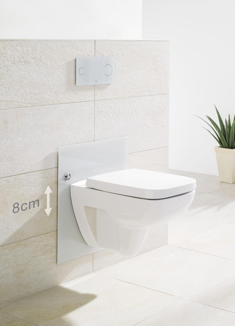 Toilet in hoogte verstelbaar. Aangepast sanitair badkamer #viega #toilet