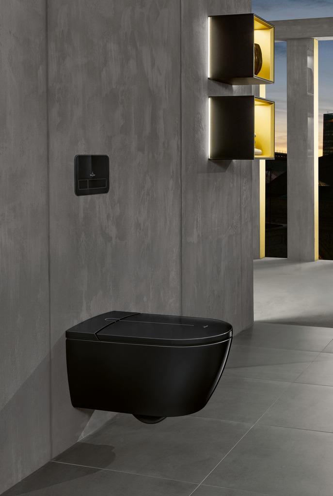 Douche-wc ViClean 100 in het zwart van Villeroy & Boch #toilet