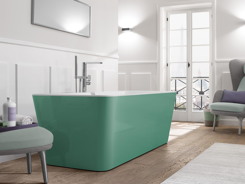 Baden in verschillende kleuren van Villeroy & Boch #badkamer #kleur #groen