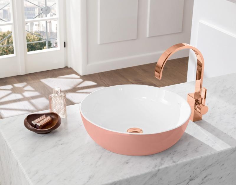 Kleur in de badkamer met de Artis Color wastafels en waskommen van Villeroy & Boch #badkamer