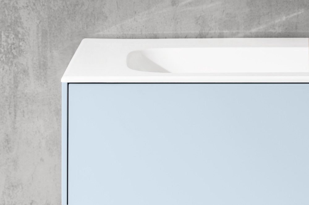 Villeroy & Boch badkamermeubel met wastafel uit de badkamercollectie Finion in de kleur Cloud - pasteltinten, blauw #villeroyboch