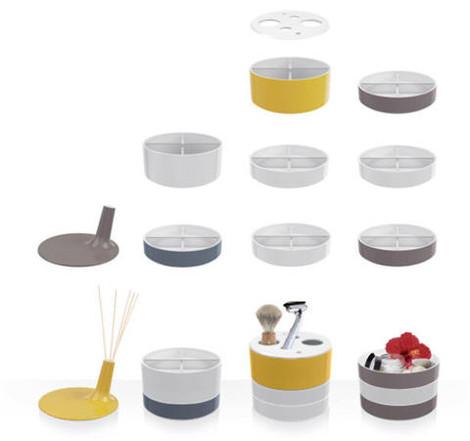 Verwisselbare kleurrijke accessoires voor de badkamer van Villeroy & Boch