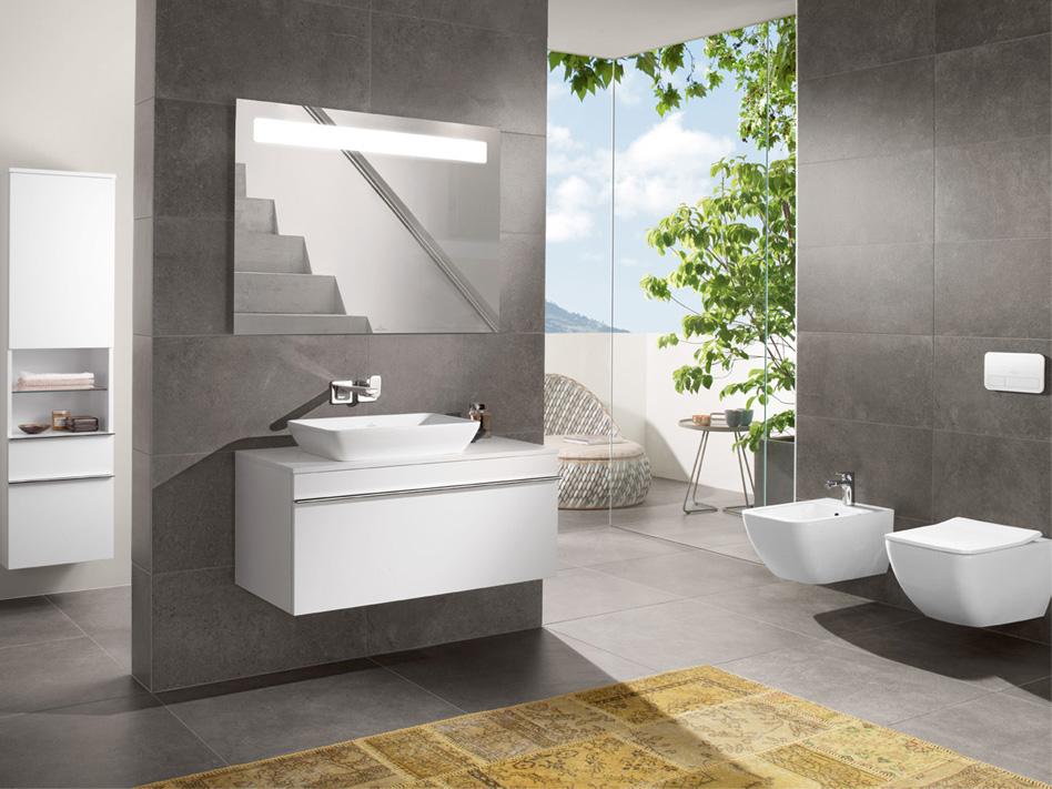 Villeroy & Boch badkamermeubel lijn Venticello met keuze uit verschillende wastafels, meubels en kleuren en met DirectFlush toiletten