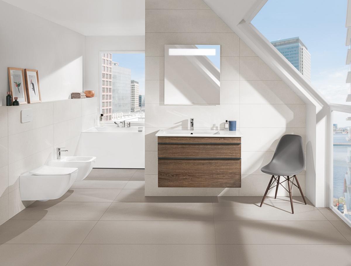 Badkamer met badkamermeubel Venticello van Villeroy & Boch