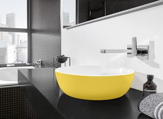 Sanidrôme badkamerinspiratie: geef je badkamer kleur #badkamer #badkamerinspiratie #sanidrome #kleur #colourexplotion #geel