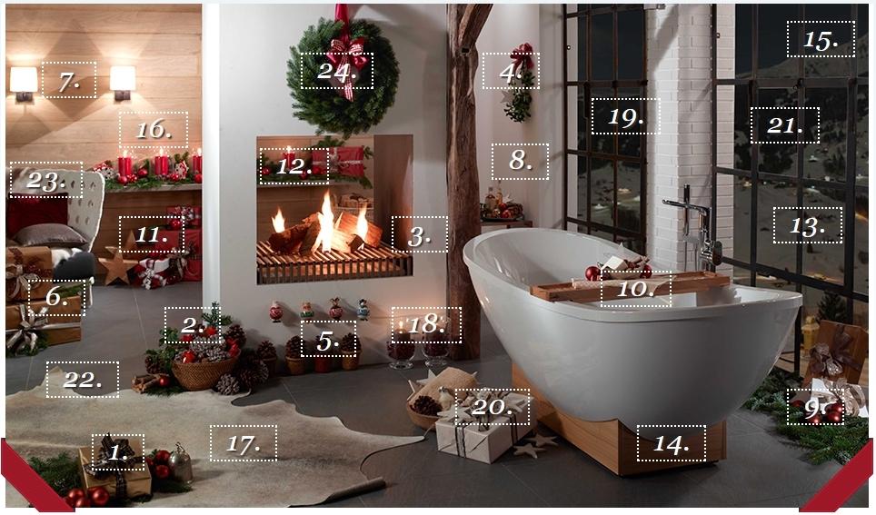 Villeroy & Boch advent kalender. Accessoires voor de badkamer van Villeroy & Boch #kerstmis #badkamer #villeroyboch