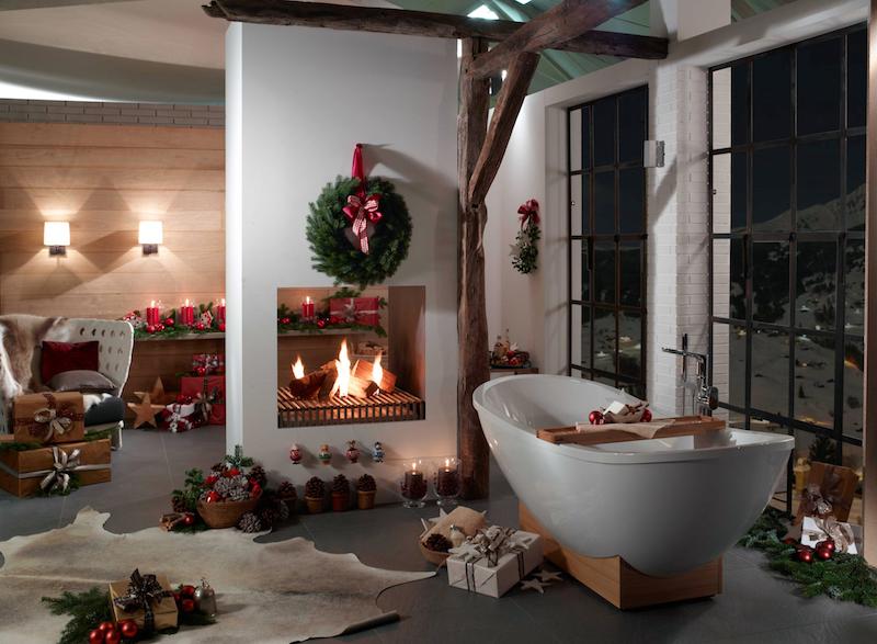 Mooie kerstcadeau's van Villeroy & Boch om de badkamer te restylen. Elke dag allerlei moois in de adventskalender #badkamer #villeroyboch #kerst #kerstcadeau