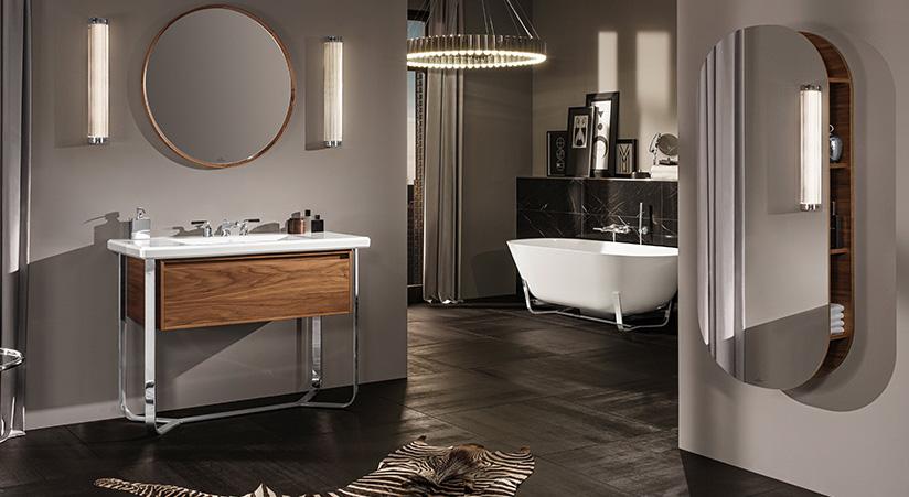 Nieuwe badkamer collectie Antheus van Villeroy & Boch vanaf 2018 beschikbaar. Art Deco badkamer #badkamer #design #hout