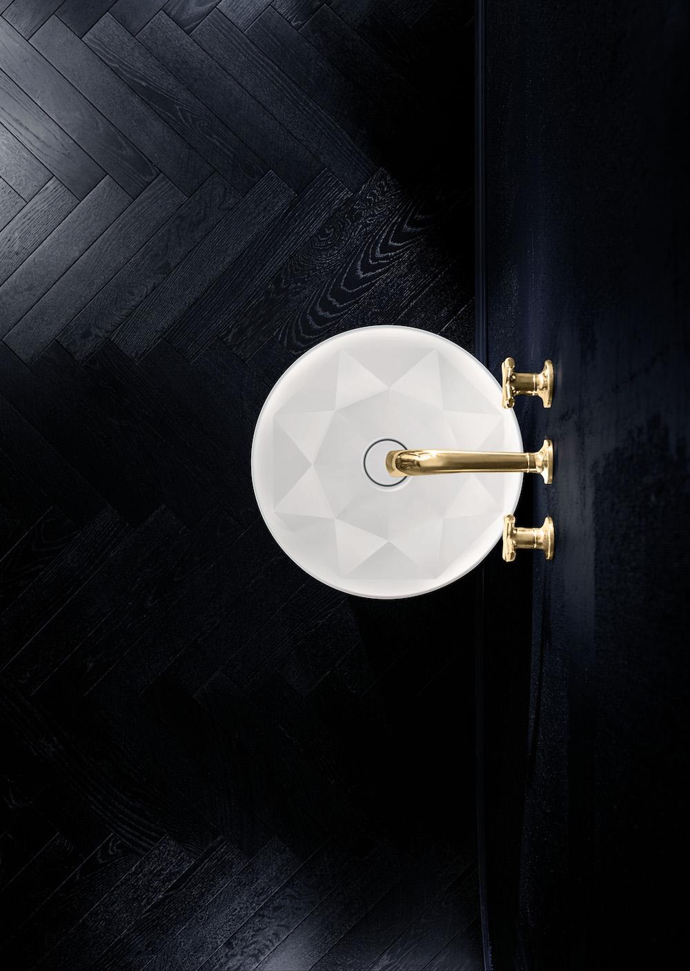 Unieke ronde wastafel Octagon van Villeroy & Boch #wastafel #design