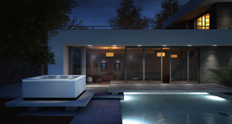Villa met zwembad en outdoor whirlpool Just Silence van Villeroy & Boch #luxury #exterior