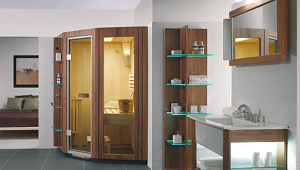 Sauna in de badkamer: Villeroy & Boch combicabine Sauna, infrarood, infrasteam™ en Comfort Climate™ - SA Line