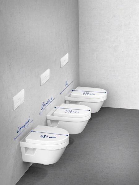 Villeroy & Boch Architectura toiletten in drie verschillende formaten