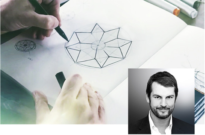 Villeroy & Boch ontwerp Octagon zuilwastafel - ontwerper Kai Steffan