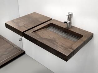 Wastafel natuursteen houtlook Balance