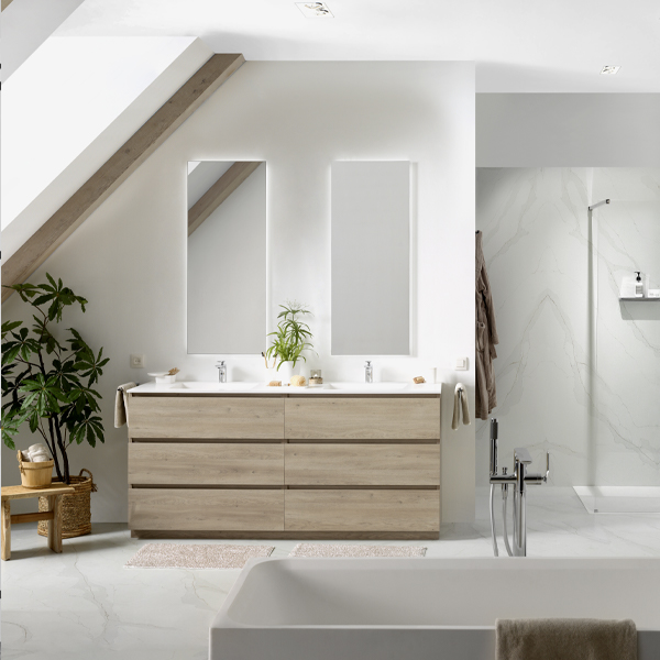 Tips bij het kiezen van een spiegel in de badkamer #spiegel #spiegelkast #badkamer #badkamerideeën #x2o