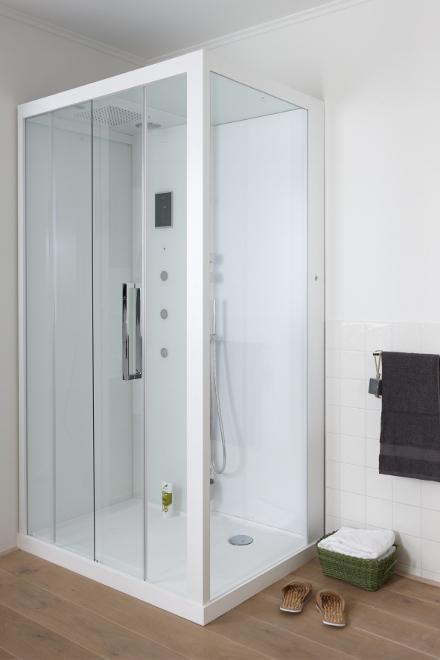Baden+ douchecabine landelijke badkamer Noken