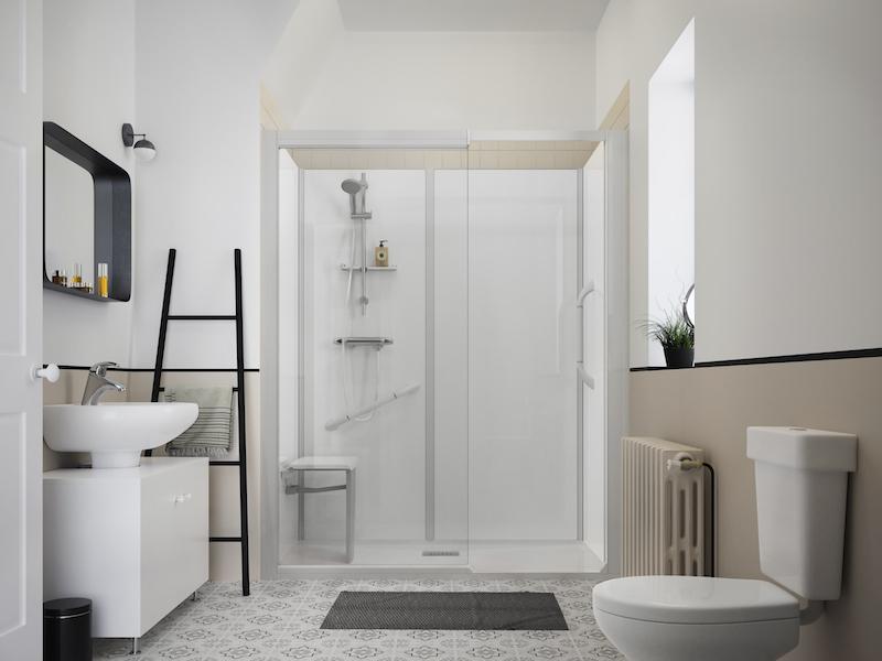 Ideaal van bad naar douche in dag nieuws startpagina voor