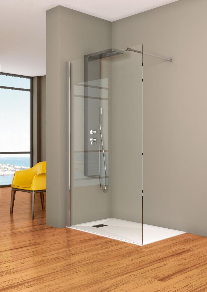Glazen Douchewand Tot Plafond.Kinedo Douchewanden Voor De Inloopdouche Nieuws Badkamer Ideeen