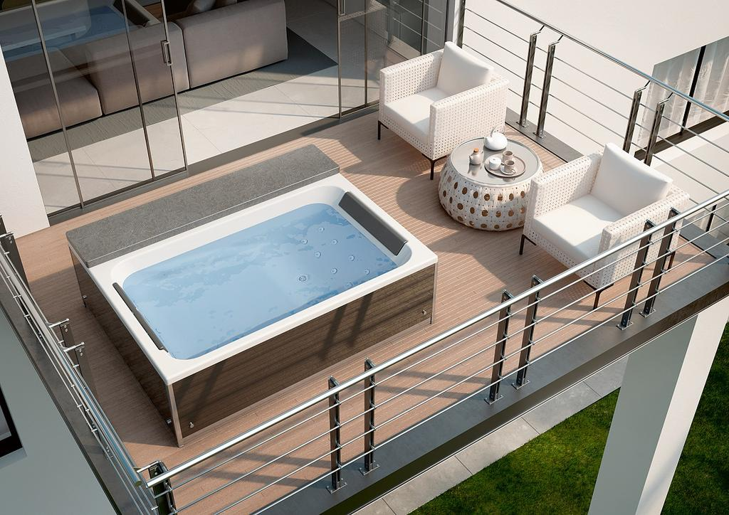Whirlpoool op het terras - magic spa van kinedo