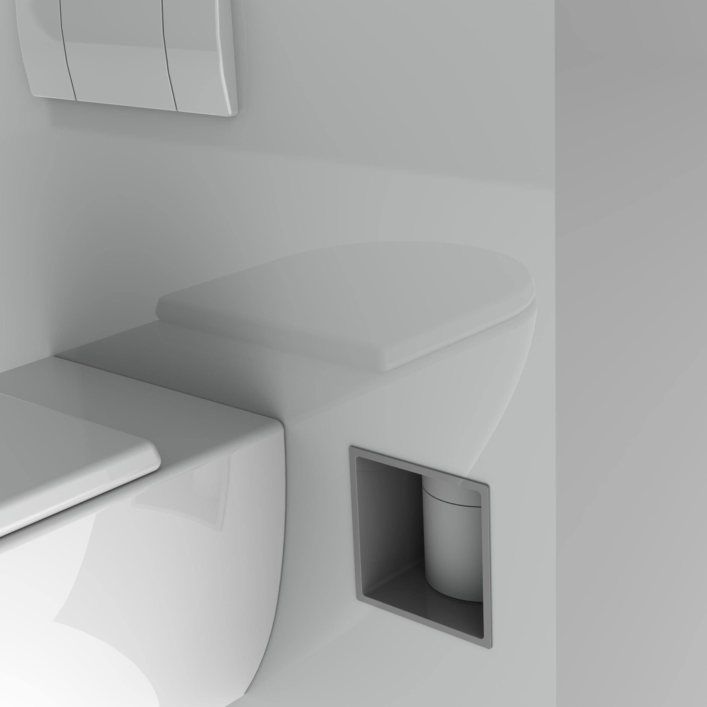 Onzichtbaar ingebouwde reserve toiletrollen dispenser van Stock4rolls