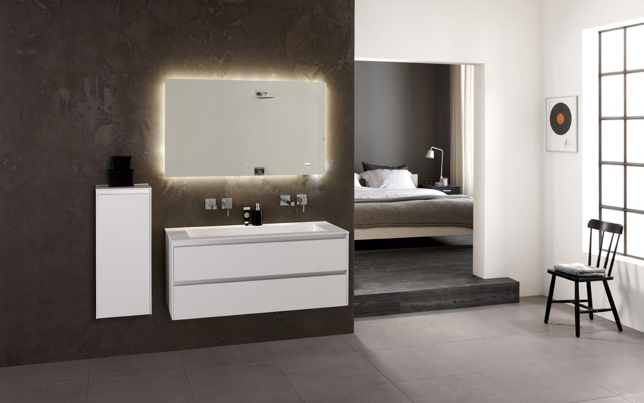 Thebalux badkamermeubel Frozen met spiegelkast met LED verlichting