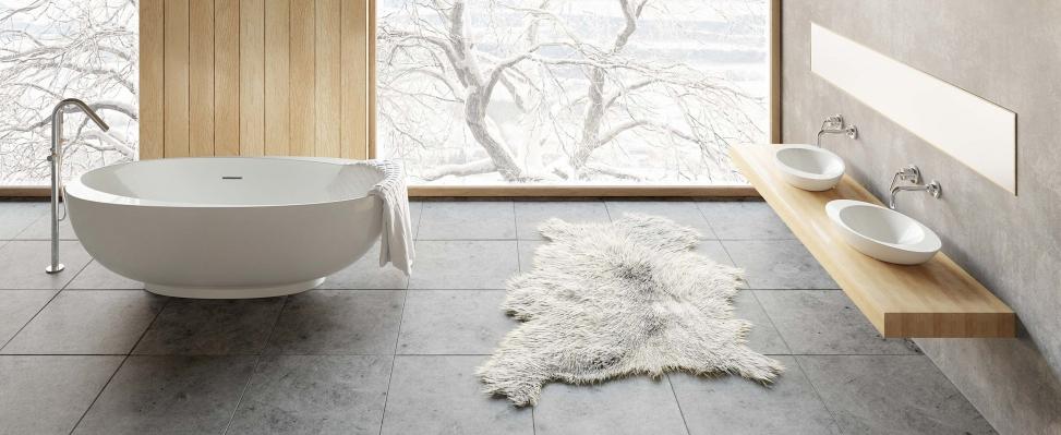 Bad met bijpassende waskommen via Cross Tone