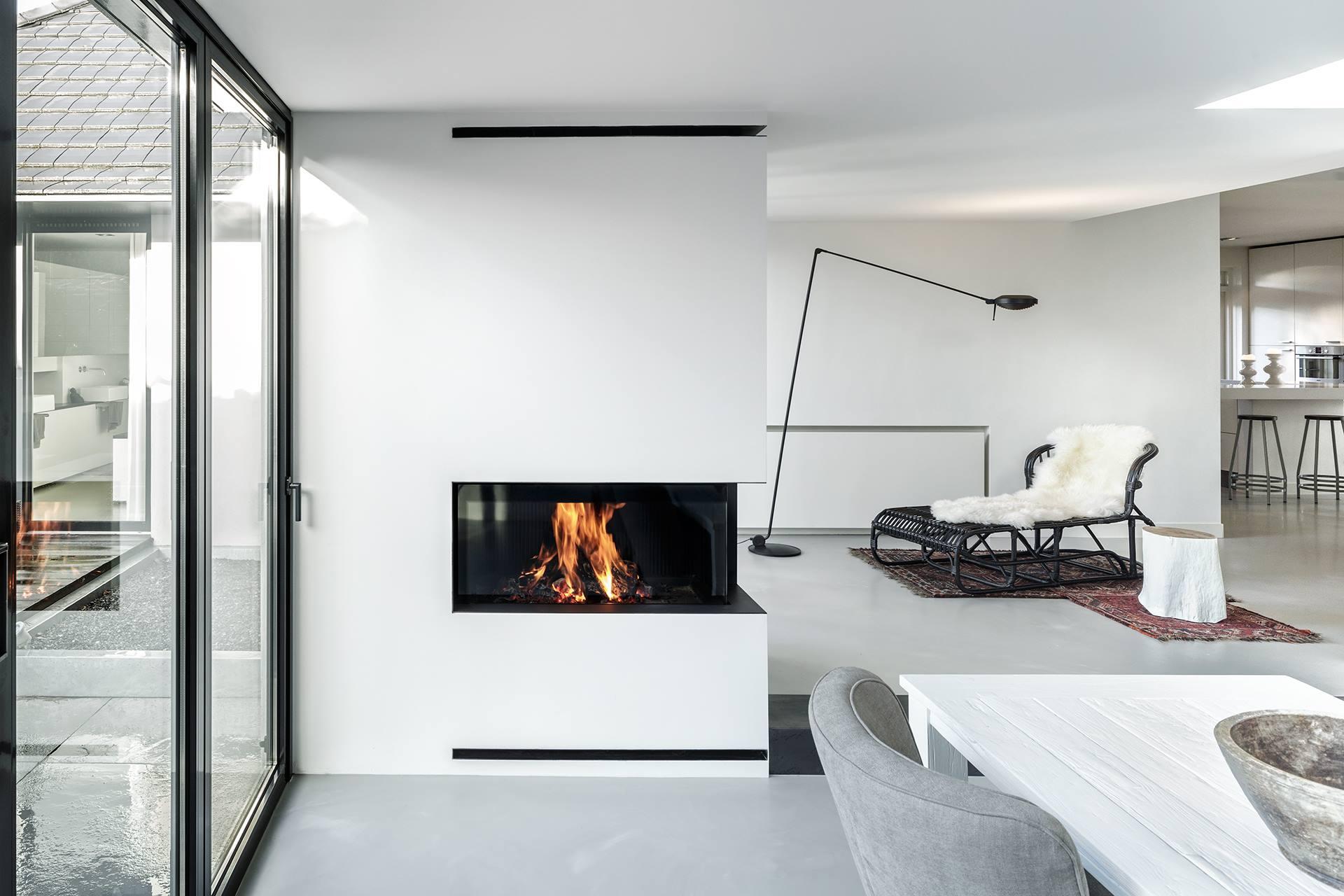 Hoekhaarden hout en gasgestookt startpagina voor haarden en kachels idee n uw - Decoratie woonkamer met open keuken ...