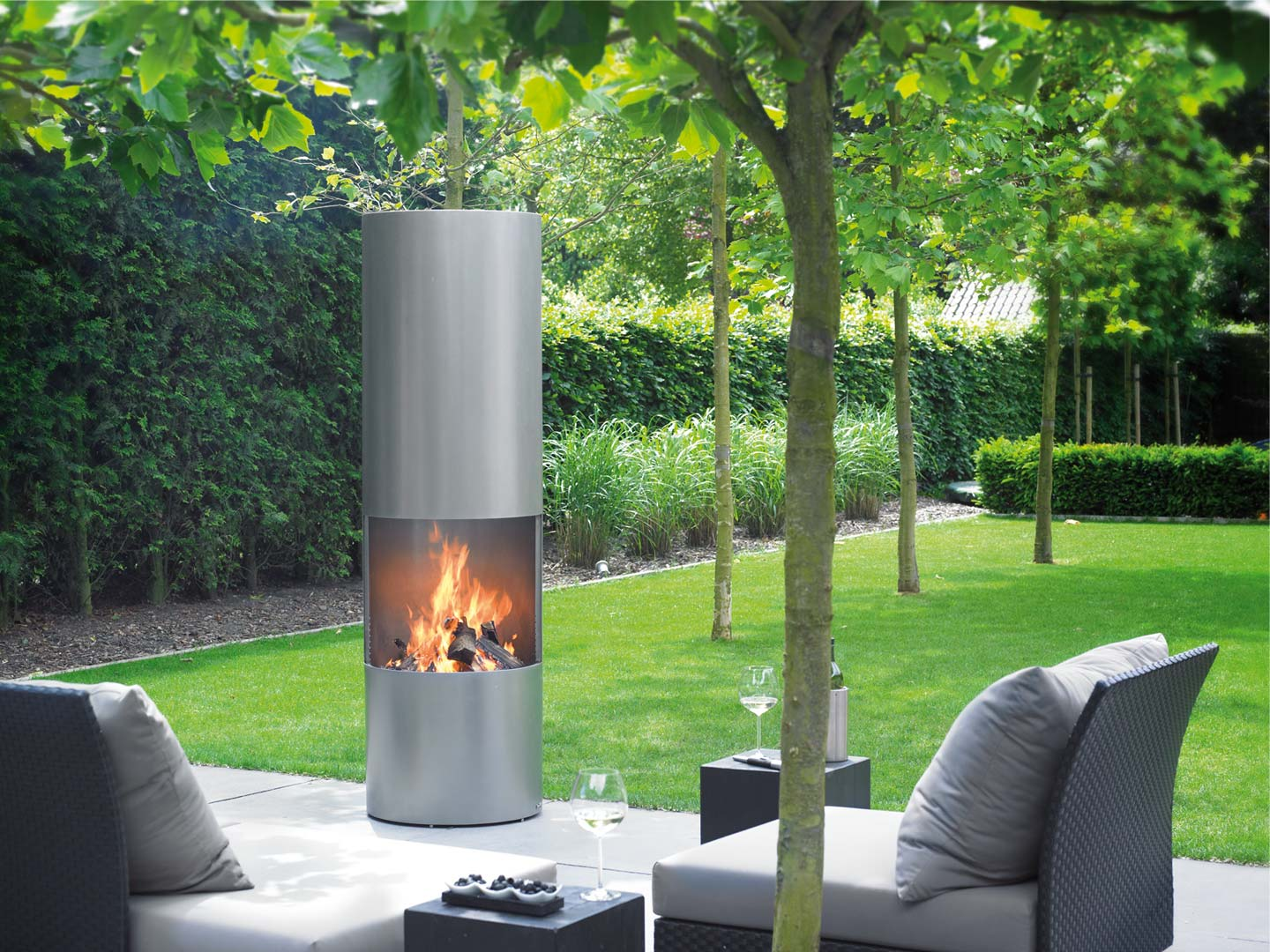 Boley Tube 912 tuinhaard met barbecue
