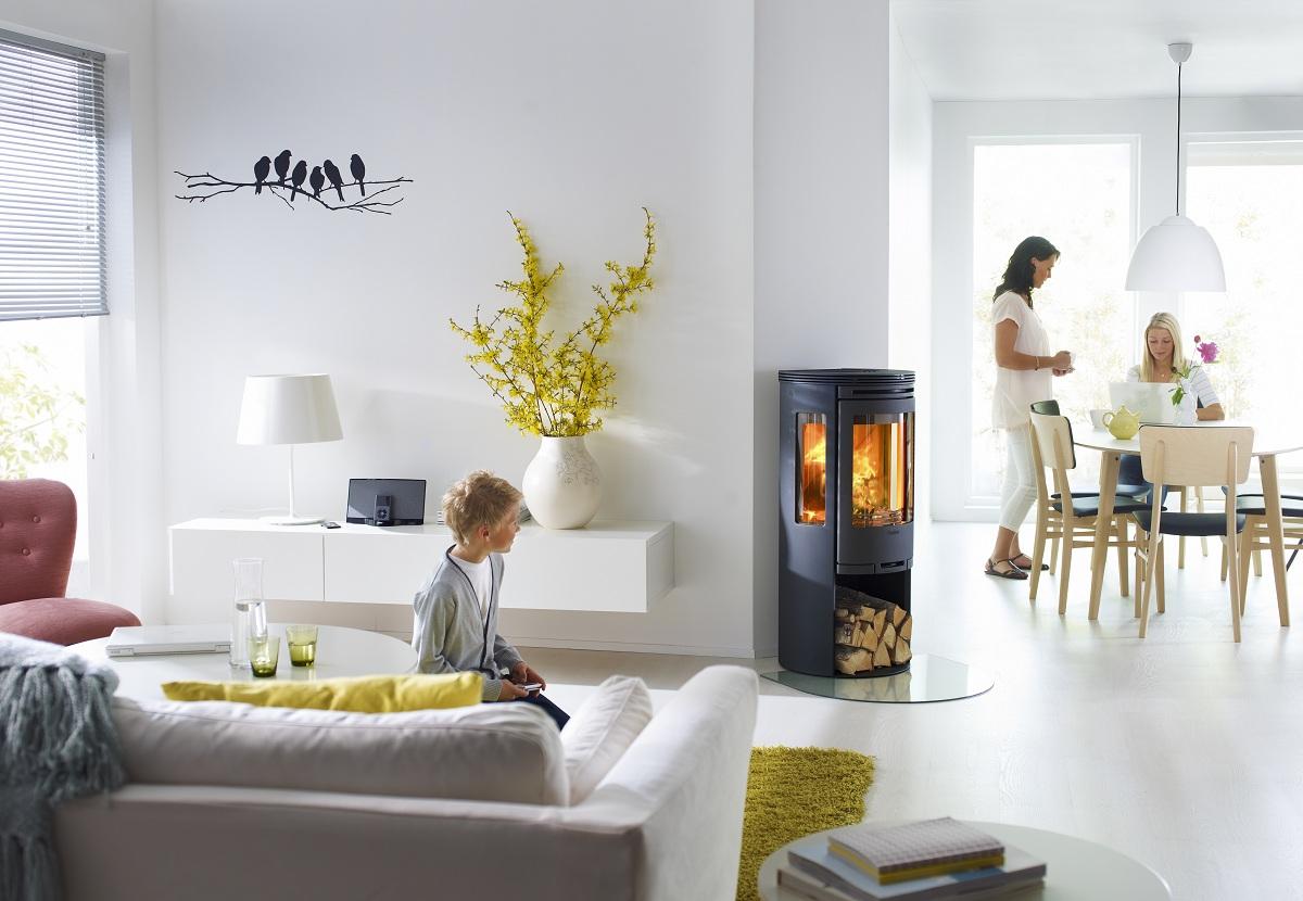 Scandinavisch interieur met houtkachel - Contura 556 Style